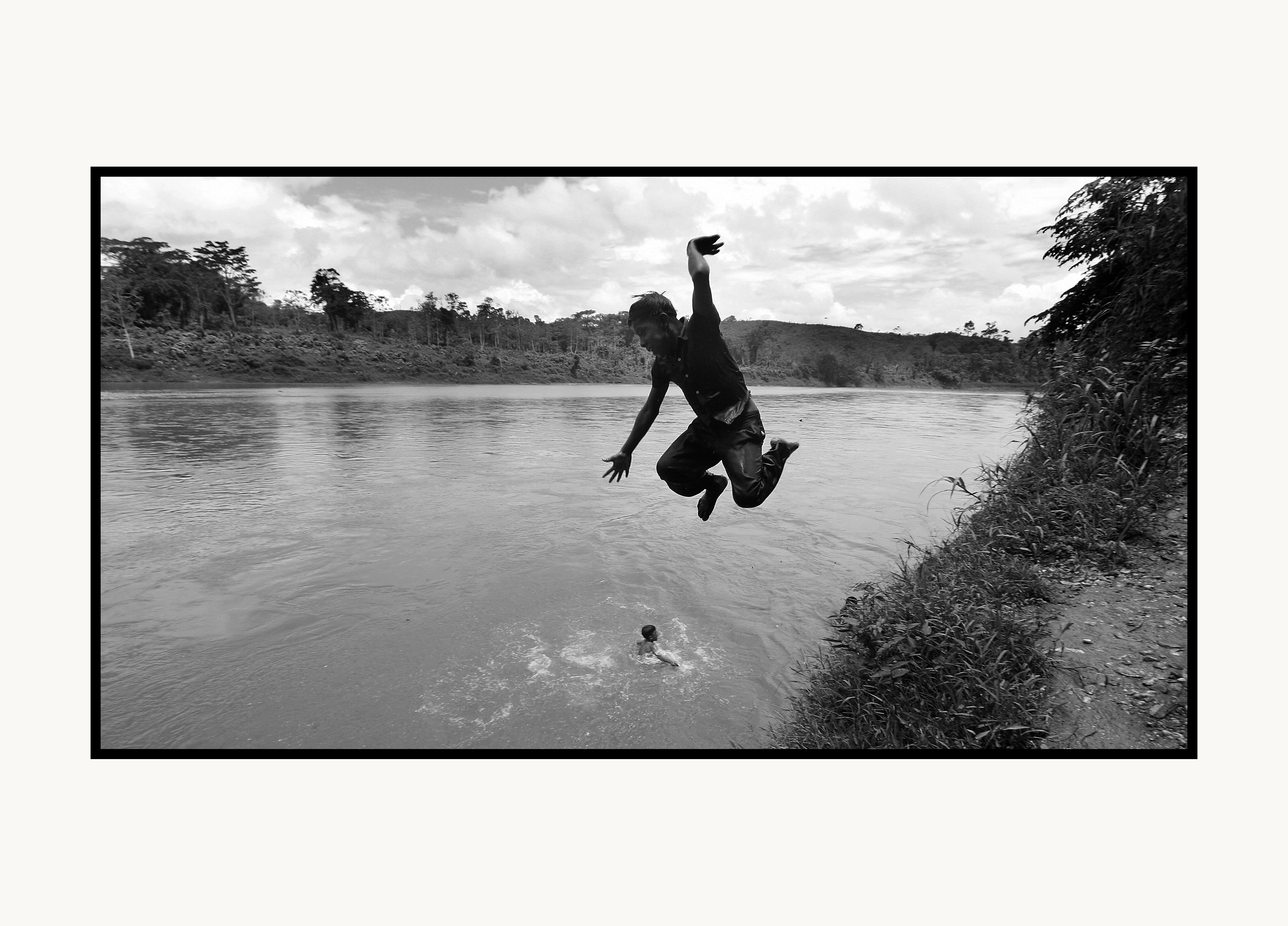 nicaragua river jump IMG_2380 copy poster